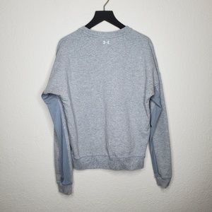 Under Armour Sweaters - Under Armour Grey Mesh Accent Pullover Sweater